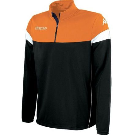 Novare Training Sweat 1/4 Zip Black / Orange /  White